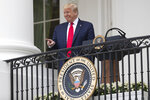 President Donald Trump points during a
