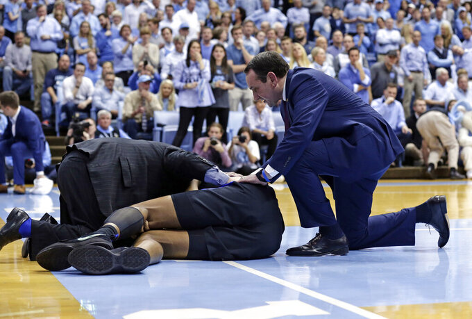Coach K: Injured Bolden to miss ACC Tournament