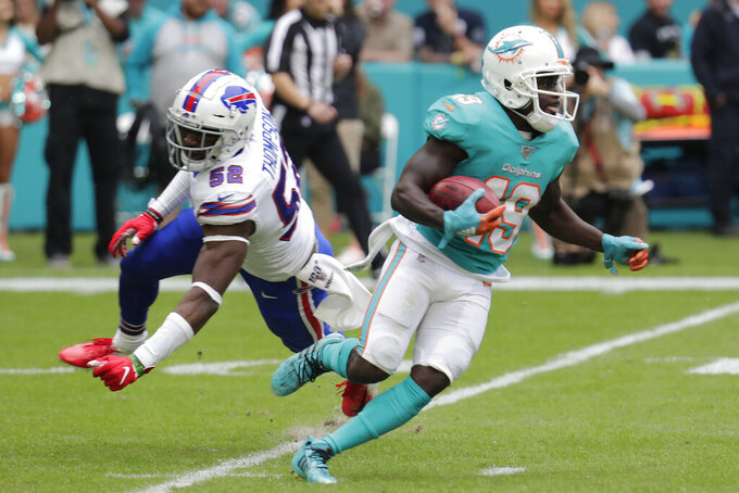 Dolphins WR Jakeem Grant goes on injured reserve