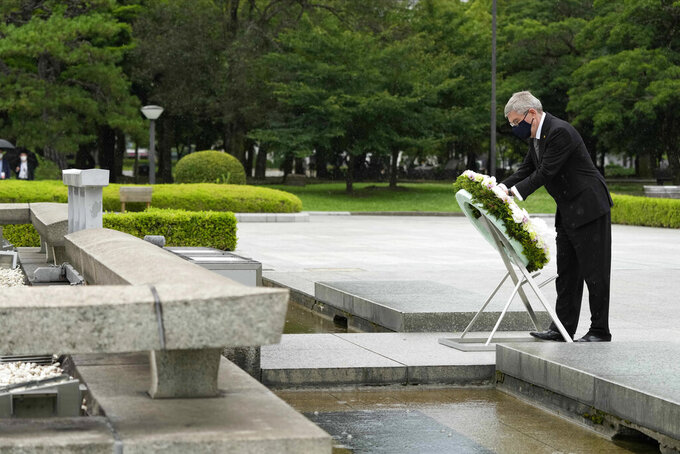 IOC's Bach gets mixed reaction in one-day visit to Hiroshima