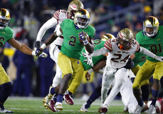 Notre Dame-Workhorse Williams Football