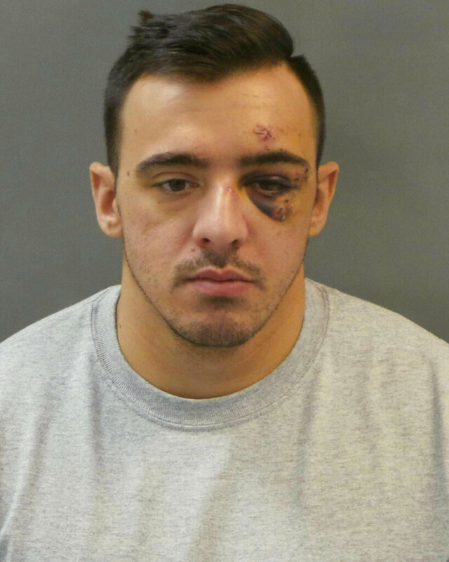 FILE - This Jan 28, 2019, file booking photo released by St. Louis Police Department shows Nathaniel Hendren. The former St. Louis police officer accused of involuntary manslaughter in the January 2019 shooting death of a female colleague pleaded guilty Friday, Feb. 28, 2020, and was sentenced to seven years in prison.   (St. Louis Police Department via AP, File)