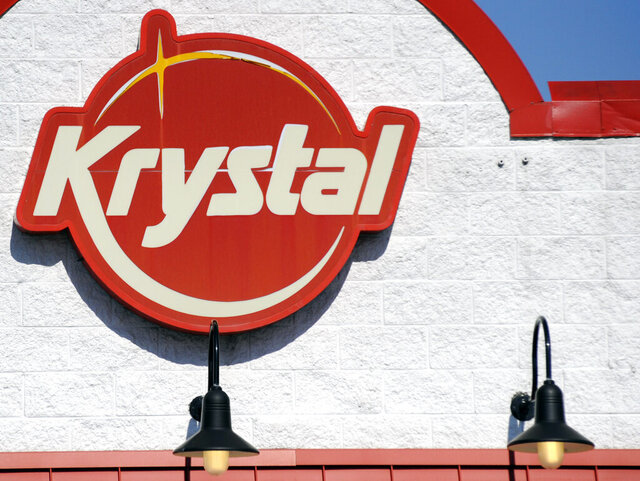 The exterior of a Krystal restaurant in Alabaster, Ala., is shown on Tuesday, Jan. 21, 2020, after the Georgia-based company sought federal bankruptcy protection. The company, which calls itself the South's oldest restaurant chain, is known for its tiny hamburgers and late-night service. (AP Photo/Jay Reeves)