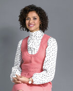 "This Oct. 21, 2019 photo shows actress Gugu Mbatha-Raw posing for a portrait in New York. The actress has a clutch of projects coming out this fall; the film noir feature ""Motherless Brooklyn,"" the flagship Apple TV Plus streaming drama ""The Morning Show"" and the searing indie film ""Farming.""  (Photo by Christopher Smith/Invision/AP)"
