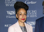 """FILE - This Nov. 4, 2015 file photo shows Zadie Smith at the WSJ Magazine Innovator Awards in New York. Smith won the  the National Book Critics Circle criticism prize for her essay collection """"Feel Free."""" (Photo by Charles Sykes/Invision/AP, File)"""
