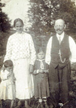 In this undated photo provided by the Buchala family, Stefania and Jan Buchala are seen with their children Marcin and Jadwiga. The Buchalas were posthumously awarded with the Israeli distinction of Righteous Among the Nations in a ceremony in Gliwice, Poland, on Thursday, October 15, 2020, for taking in and saving from the Holocaust Roman Polanski, now Oscar-winning filmmaker, when he was a boy, during World War II. (Buchala Family via AP)