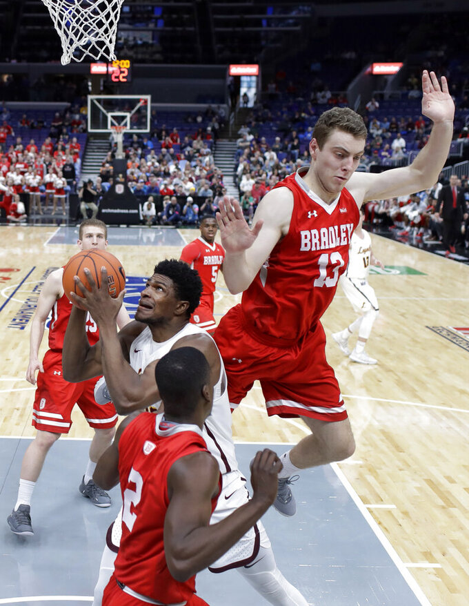 Bradley knocks Loyola-Chicago out of MVC tourney