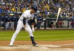 Milwaukee Brewers' Ryan Braun tosses his bat after striking out during the fourth inning of a baseball game against the San Diego Padres Tuesday, Sept. 17, 2019, in Milwaukee. (AP Photo/Morry Gash)