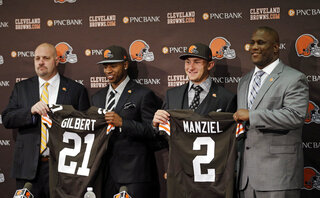 Mike Pettine, Justin Gilbert, Johnny Manziel, Ray Farmer