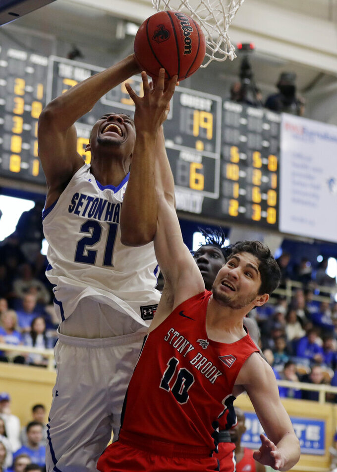 No. 12 Seton Hall loses Powell, beats Stony Brook 74-57
