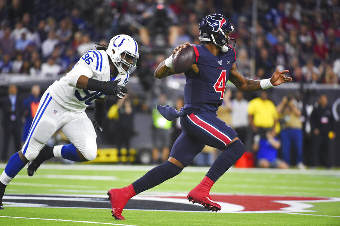 Colts struggle in pass game in 20-17 loss to Texans