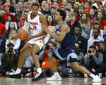 Ohio State's Kaleb Wesson, left, posts up against Villanova's Jeremiah Robinson-Earl during the first half of an NCAA college basketball game Wednesday, Nov. 13, 2019, in Columbus, Ohio. (AP Photo/Jay LaPrete)