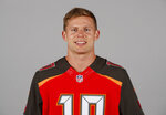 "FILE - This is a 2018 file photo showing Adam Humphries of the Tampa Bay Buccaneers NFL football team. For Adam Humphries, Tennessee has been a potential destination for months based on his relationship with Titans general manager Jon Robinson because of their Tampa Bay connection. Not even a late push by the New England Patriots could sway him to walk away from his deal with the Titans. Even considering how much success wide receivers like Humphries have enjoyed with the defending Super Bowl champs.""Obviously, I'm a man of my word, and I'm going to keep my word there,"" Humphries said Thursday, March 14, 2019, after signing with Tennessee. (AP Photo/File)"