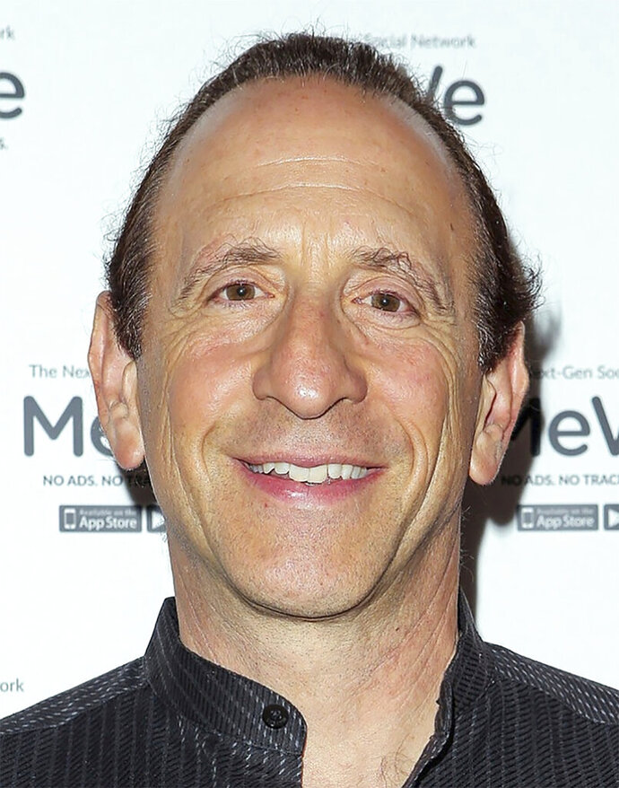 This undated photo provided by MeWe shows MeWe CEO Mark Weinstein.  MeWe is a 4-year-old, full-featured social media company positioned as an anti-Facebook. It says it does not collect data on its users, and features a Privacy Bill of Rights. In the past year, MeWe more than doubled its membership to nearly 15 million. (MeWe via AP)