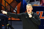 Purdue head coach Matt Painter gives directions from the sideline in the first half of an NCAA college basketball game against Illinois, Saturday, Jan. 2, 2021, in Champaign, Ill. (AP Photo/Holly Hart)