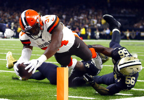 APTOPIX Browns Saints Football