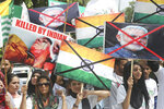 Pakistani students rally to express solidarity with Indian Kashmiris in Lahore, Pakistan, Friday, Sept. 13, 2019. The protests and anti-India rallies continued in solidarity with Kashmiri people after the controversial bill was passed by India shrinking the rights of Kashmir people. (AP Photo/K.M. Chaudary)