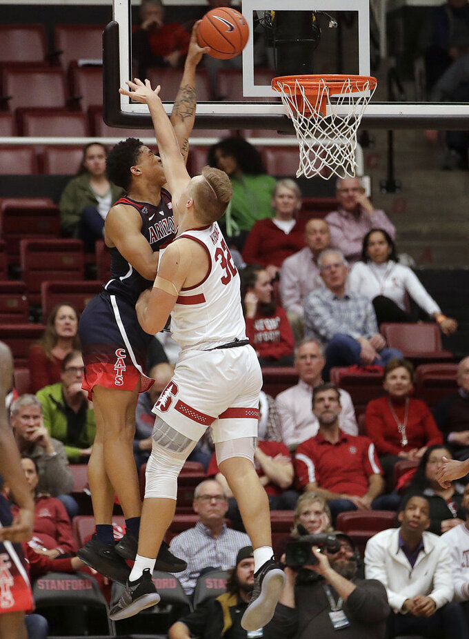 Randolph nets 17 in Arizona's 75-70 win over Stanford