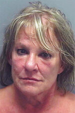 This undated image provided by the Lee County Sheriff's Office shows Linda La Roche, 64, of Cape Coral, Fla., who has been charged with homicide and hiding a corpse in the 1999 death of Peggy Lynn Johnson. Johnson was known only as Jane Doe after her body was found in a cornfield in Racine County, Wisconsin, until DNA testing in 2019 identified her. (Lee County Sheriff's Office via AP)