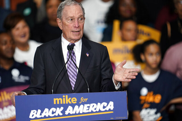 Democratic presidential candidate and former New York City Mayor Michael Bloomberg speaks during his campaign launch of