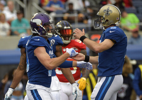 Drew Brees, Adam Thielen