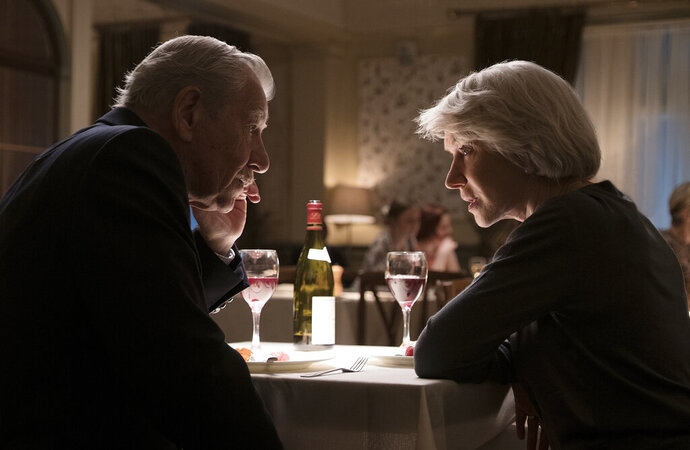 This image released by Warner Bros. Pictures shows Ian McKellen, left, and Helen Mirren in a scene from