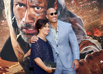 Actor Dwayne Johnson and mother Ata Johnson attend the