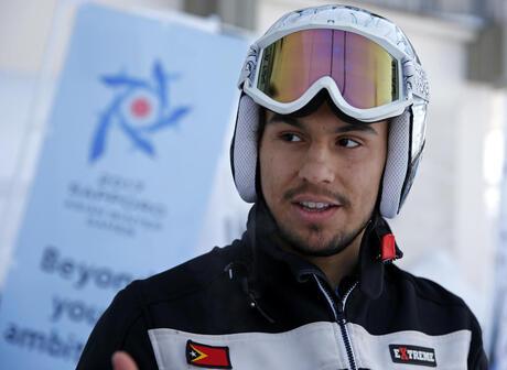 Japan Asian Winter Games Timor Skier