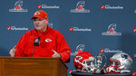 Kansas City Chiefs coach Andy Reid speaks during a news conference Wednesday, Jan. 16, 2019, in Kansas City, Mo. The Chiefs are scheduled to play the New England Patriots for the NFL football AFC championship Sunday. (John Sleezer/The Kansas City Star via AP)