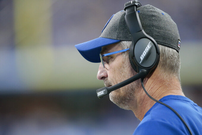 Indianapolis Colts head coach Frank Reich watches during the second half of an NFL football game against the Atlanta Falcons, Sunday, Sept. 22, 2019, in Indianapolis. (AP Photo/AJ Mast)