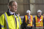 MTA Chief Development Officer Janno Lieber speaks during a news conference in a subway tunnel originally built in the 1970s, and stopped when the project ran out of money, that will be repurposed for the current 2nd Avenue subway project in New York, Friday, May 3, 2019. The increasing challenges posed by the New York area's aging rail infrastructure came into sharp focus Thursday as a congressional delegation prepared to get a firsthand look at the country's busiest station on the same day commuters learned about summer schedule disruptions due to track repairs. (AP Photo/Mary Altaffer)