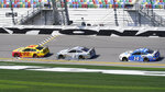 Joey Logano (22) leads Kevin Harvick (4) and Chase Briscoe (14) through the front stretch during a NASCAR Daytona 500 auto race practice session at Daytona International Speedway, Wednesday, Feb. 10, 2021, in Daytona Beach, Fla. (AP Photo/John Raoux)
