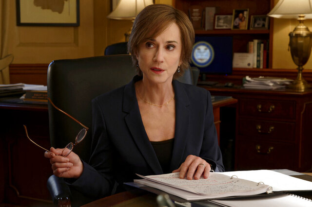 This image provided by Showtime shows Holly Hunter as Sally Yates in a scene from