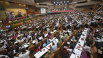 FILE - In this April 16, 2016 file photo, delegates attend a Cuban Communist Party Congress in Havana, Cuba. The VIII Congress of the Communist Party of Cuba, between April 16 and 19, 2021, could go down in history as the last with a member of the Castro family at the head, if Raul Castro fulfills his announcement to say goodbye as Secretary General.(Ismael Francisco/Cubadebate via AP File)