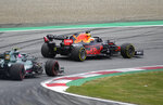 Red Bull driver Max Verstappen of the Netherlands steers his car during the second free practice session for the Austrian Formula One Grand Prix at the Red Bull Ring racetrack in Spielberg, Austria, Friday, July 2, 2021. The Austrian Grand Prix will be held on Sunday. (AP Photo/Darko Bandic)