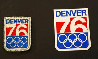 Denver Winter Olympics bid sticker, patch