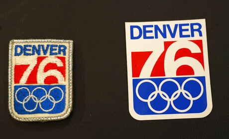 Denver Winter Olympics bid sticker, patch