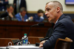 Corey Lewandowski, former campaign manager for President Donald Trump, testifies to the House Judiciary Committee Tuesday, Sept. 17, 2019, on Capitol Hill in Washington. (AP Photo/Jacquelyn Martin)