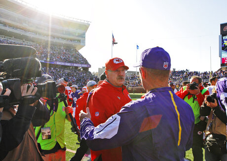 Andy Reid, Mike Zimmer