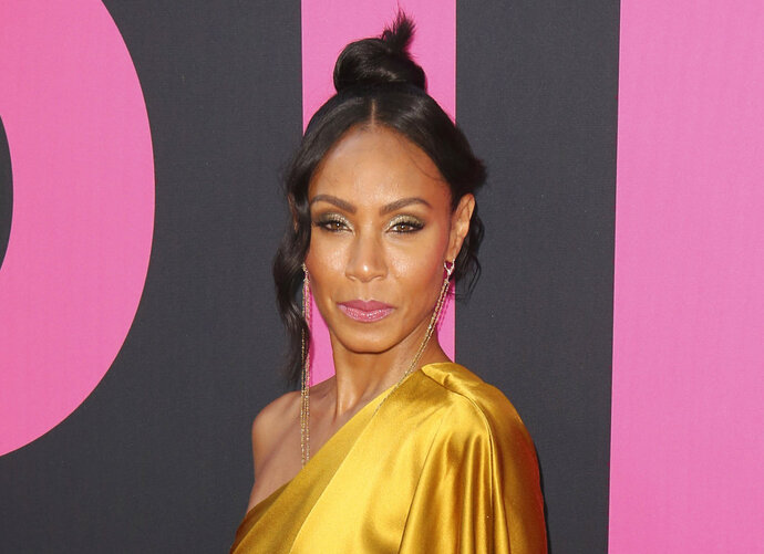 FILE - In this July 13, 2017 file photo, Jada Pinkett Smith arrives at the world premiere of