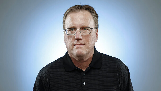 This undated photos shows former longtime Los Angeles Times sport writer Chris Dufresne. The award-winning former sportswriter for the Los Angeles Times has died. He was 62. He died suddenly Monday, May 25, 2020, while dining with his family at home in Chino Hills, 30 miles east of Los Angeles, according to a Times staff memo posted Tuesday on Facebook. (Los Angeles Times via AP)