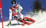 Austria's Marcel Hirscher speeds down the course don his way to win an alpine ski, men's World Cup slalom in Wengen, Switzerland, Sunday, Jan. 14, 2018. (AP Photo/Gabriele Facciotti)