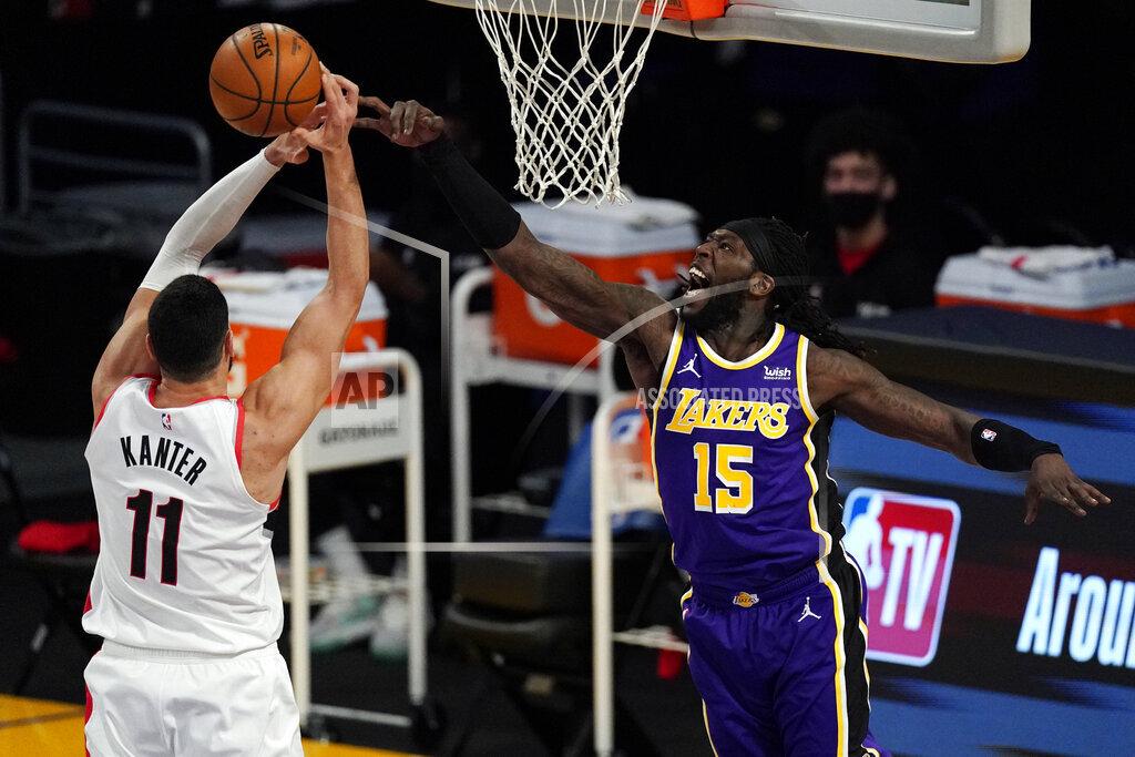 Trail Blazers Lakers Basketball