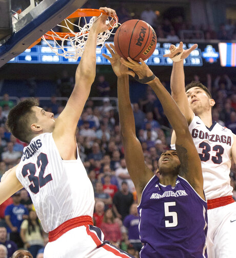 NCAA Northwestern Gonzaga Basketball