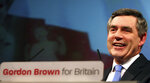 FILE - In this Sunday, June 24, 2007 file photo, Gordon Brown speaks on stage at a special Labour leadership conference in Manchester, England. Britain is facing the most testing and significant, some would say tortuous, period in its modern history since World War II. The polarized electorate now has a critical choice to make _but it seems unlikely the result, whatever it may be, will heal deep and toxic divisions that could last a generation or more. (AP Photo/Simon Dawson, File)