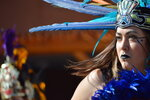 Crystal Zamora, 27, of Albuquerque, N.M., performs with the Ehecatl Aztec Dancers on Monday, Oct. 14, 2019, at the Indian Pueblo Cultural Center in Albuquerque, N.M. as part of New Mexico's first Indigenous Peoples Day. A handful of states celebrated their first Indigenous Peoples Day on Monday as part of a trend to move away from a day honoring Christopher Columbus. (AP Photo/Russell Contreras)