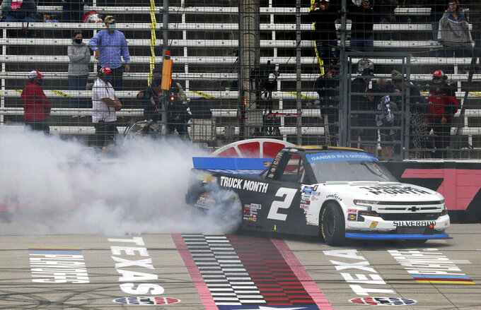 Creed gets in Truck Series' final four with victory in Texas