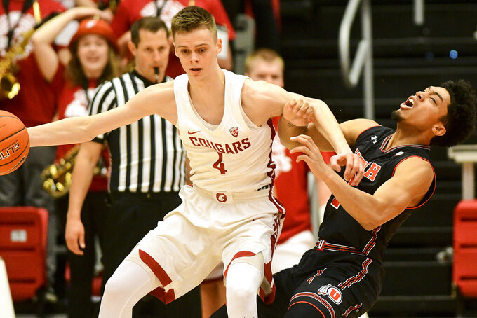 Utah hangs on to beat Washington State 92-79