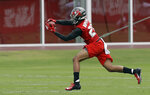 Tampa Bay Buccaneers cornerback Sean Murphy-Bunting makes a catch during NFL football rookie camp Friday, May 10, 2019, in Tampa, Fla. (AP Photo/Chris O'Meara)