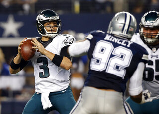 Jeremy Mincey, Lane Johnson, Mark Sanchez